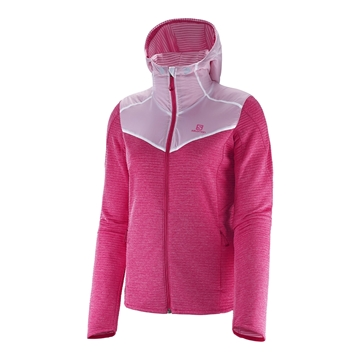SALOMON - Gilet Manche Longue - ELEVATE MID W - Femme - Rose - Small