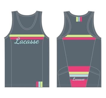 LACASSE - Camisole de Vélo - CTW-3500 - Femme - Gris - Small