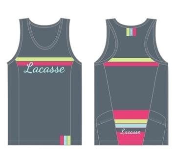 LACASSE - Camisole de Vélo - CTW-3500 - Femme - Gris - Medium