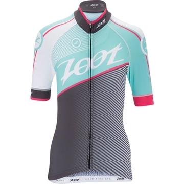 ZOOT - Maillot de Vélo - CYCLE TEAM JERSEY - Femme - Gris/Vert/Rose - XLarge