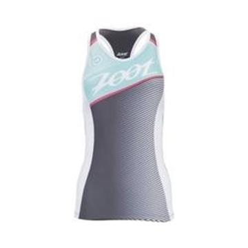 ZOOT - Camisole de Vélo - TRI TEAM RACERBACK W S - Femme - Gris/Vert - Small