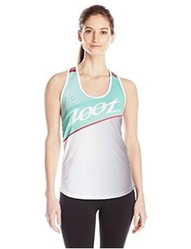 ZOOT - Camisole de course - W RUN TEAM SINGLET - Femme - Blanc/Vert - Large