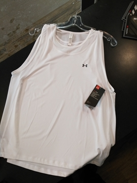 UNDER ARMOUR - Camisole de course - MUJERES - Femme - Blanc - Large
