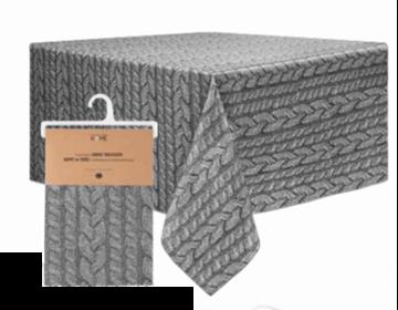 Image de Nappe grise en tissus à impression photographique
