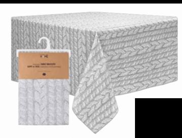 Image de Nappe grise pâle en tissus à impression photographique