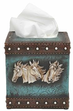 Couvre boite de tissus Western ( Kleenex)