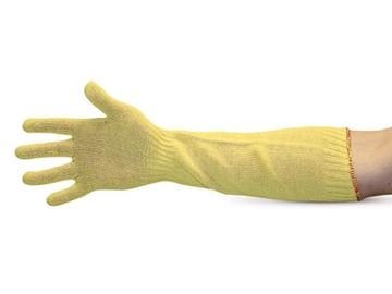 Image de Gant jaune en tricot fil  Kevlar pour le four