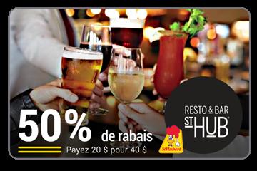 50% de rabais sur une carte cadeau de 40$ à la Rôtisserie St-Hubert