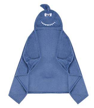 Image de Couverture enfant à capuchon requin 50x30
