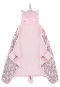 Image de Couverture licorne rose pour enfant à capuchon 50x30