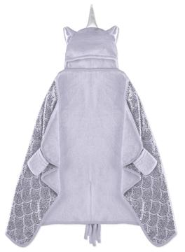 Image de Couverture licorne mauve pour enfant à capuchon 50x30