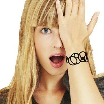LADYGUM Bracelets en silicone à motif Disco