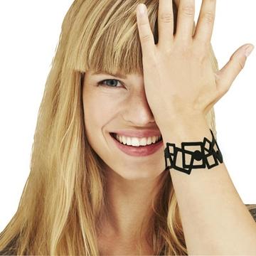 LADYGUM  bracelet en silicone à motif Tétris