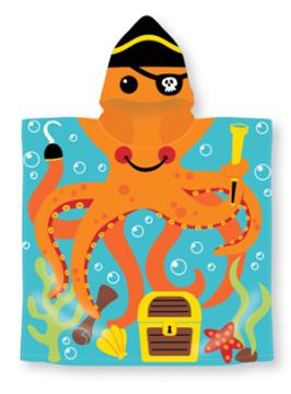 Image de Serviette à capuchon motif enfants: PIEUVRE 60x119cm