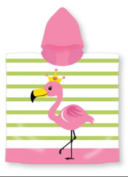 Image de Serviette à capuchon motif enfants: FLAMANT ROSE