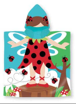 Image de Serviette à capuchon motif enfants: COCCINELLE  60x119