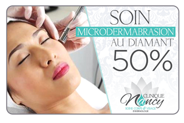50% de rabais sur un soin de microdermabrasion aux diamants à la Clinique Nancy