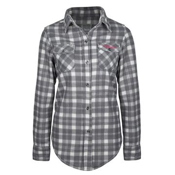 Image de chemise en polar à carreaux PF420 grise