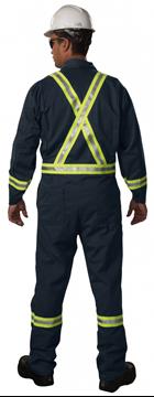 Image de Couvre-tout marine Résistant au feu, Bandes Rléchissantes avec Zipper / BIG BILL 1325ZUS9