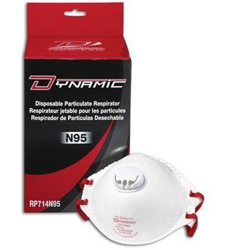 Image de Respirateur Jetable N95 avec Valve / DYNAMIC RP714N95