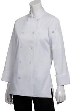 Image de Veste de cuisinier femme Marbella 3 couleurs / CHEF WORKS CWLJ