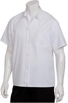 """Image de Chemise blanche à """"SNAP"""" / CHEF WORKS SHYK"""