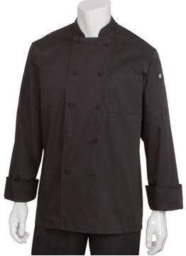 Image de Veste de cuisinier CALGARY noire / CHEF WORKS JLLS