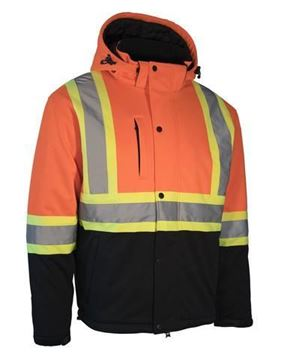 Image de Softshell de circulation doublé orange ou noir - FORCEFIELD 024-EN158