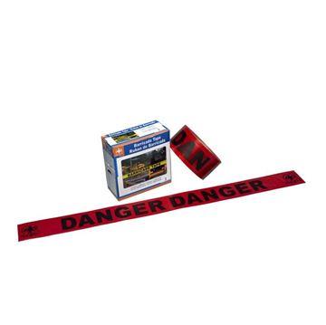 "Image de Ruban barricade Danger rouge 3"" X 1000'"