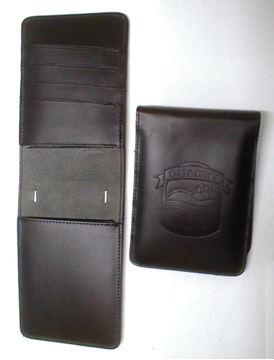 Image de Étuis carnet en cuir avec compartiments pour cartes