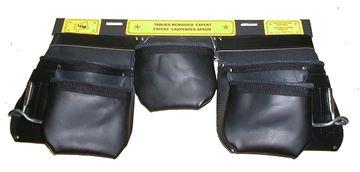 Image de Tablier de Menuisier en cuir 5 poches