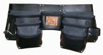 Image de Tablier de Menuisier en cuir 7 poches