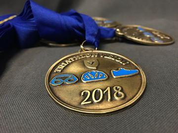 médaille sur mesure - triathlon