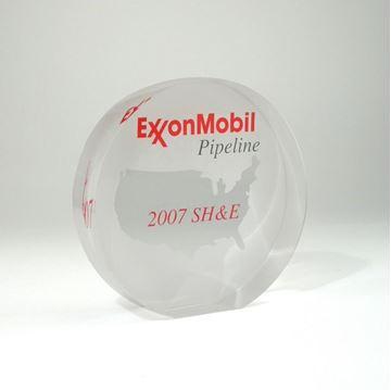 Exxon - acrylique sur mesure