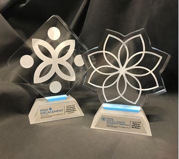 Trophée acrylique - AEPC