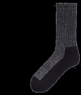 Image de bas de travail en laine pied double Duray noir