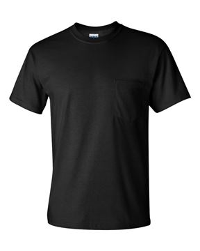 Image de t-shirt 2300 Gildan avec poche noir