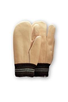 Image de gant 2 doigts cuir de vache doublé