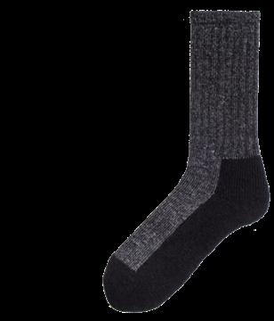 Image de bas de travail en laine pied double Duray noir moyen