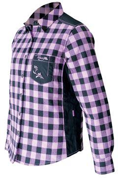Image de chemise à carreaux rembourée PF410 rose