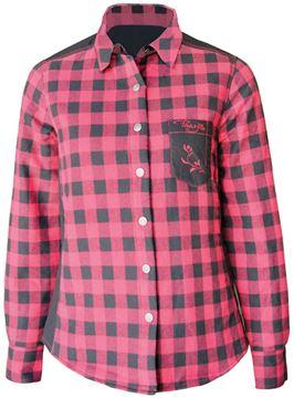 Image de chemise à carreaux rembourrée  PF410 rouge