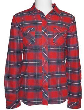 Image de chemise en flanelle à carreaux PF470 rouge