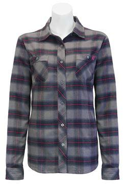 Image de chemise en flanelle à carreaux PF470 gris-mauve