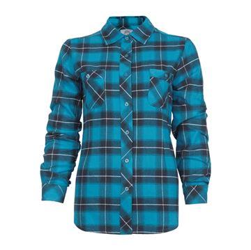 Image de chemise en flanelle à carreaux PF470 bleu