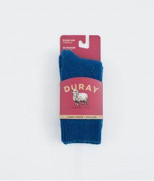 Image de bas boréal enfant Duray laine thermal bleu