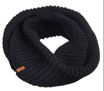 Image de Foulard infinité-Tricot acrylique noir