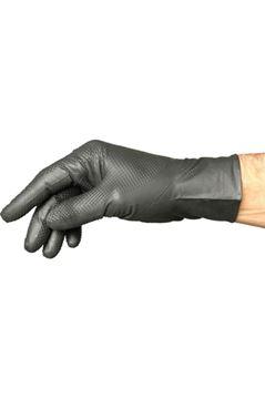 Image de Gants jetables en nitrile noir texturé