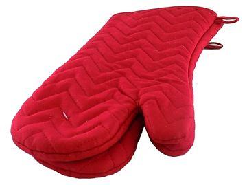Image de Mitaine à four rouge en tissus 7x14