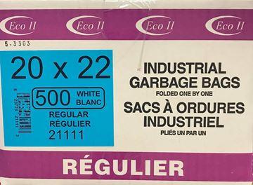 Image de Sac à déchets 20x22 blanc régulier