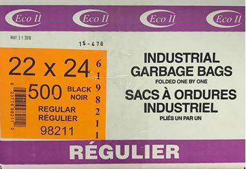 Image de Sac à déchets 22x24 noir régulier